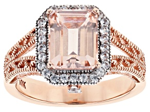 Pink Morganite 10k Rose Gold Ring 1.90ctw