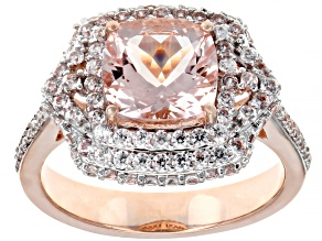 Pink Morganite 10k Rose Gold Ring 3.30ctw