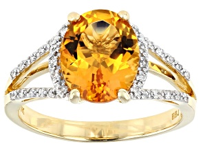 Golden Citrine 10k Yellow Gold Ring 2.04ctw