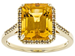 Golden Citrine 10k Yellow Gold Ring 2.68ctw
