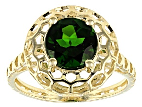 Green Russian Chrome Diopside 10k Yellow Gold Ring