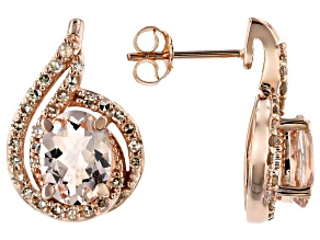 Peach Cor-De-Rosa Morganite™ 10k Rose Gold Earrings 2.14ctw