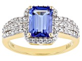 Blue Tanzanite 10k Yellow Gold Ring 1.35ctw