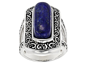 Blue Lapis Lazuli Sterling Silver Ring