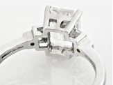 White Lab Created Yag Sterling Silver Ring 1.74ctw