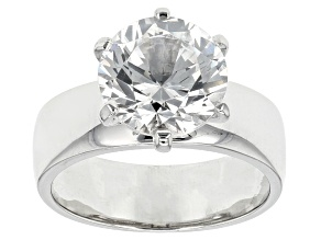 White Lab Created Yag Sterling Silver Ring 4.25ct