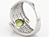Green Apatite Sterling Silver Ring 1.56ctw