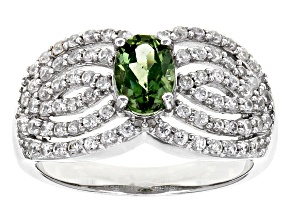 Green Apatite Sterling Silver Ring 1.47ctw
