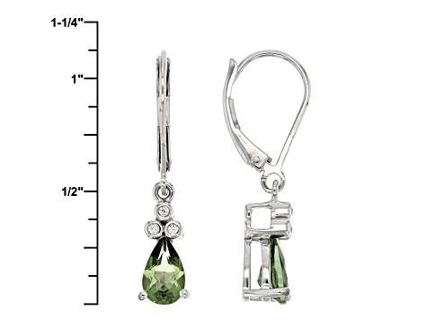 Green Apatite Sterling Silver Earrings 1.32ctw