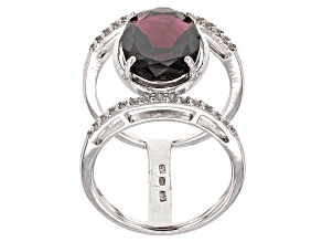 Red Garnet Sterling Silver Ring 6.60ctw