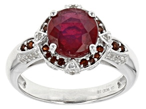 Mahaleo Ruby Sterling Silver Ring 3.01ctw