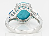 Blue Sleeping Beauty Turquoise Sterling Silver Ring .35ctw