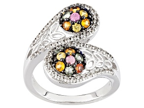 Multi-Sapphire Sterling Silver Ring 1.63ctw