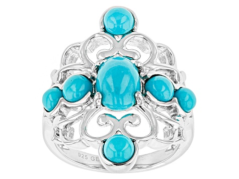 Blue Sleeping Beauty Turquoise Sterling Silver Ring