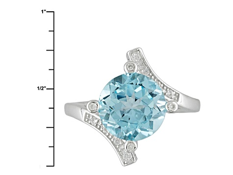Sky Blue Topaz Sterling Silver Ring 4.15ctw