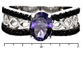 Blue Iolite Sterling Silver Ring 1.35ctw