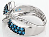 Neon Blue Apatite Sterling Silver Band Ring 1.17ctw