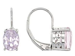 Pink Kunzite Sterling Silver Earrings 2.95ctw