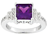 Color Change Lab Created Alexandrite Sterling Silver Ring 2.29ctw