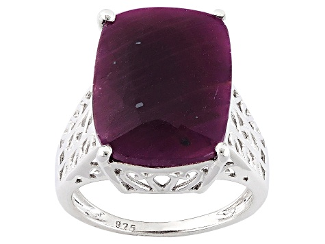Red indian Ruby Sterling Silver Ring 11.50ct