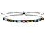 Multi-Tourmaline Sterling Silver Sliding Adjustable Bracelet 2.34ctw