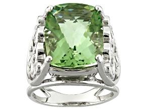 Green Prasiolite Sterling Silver Ring 8.50ct