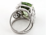 Green Prasiolite Sterling Silver Ring 8.50ct