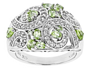 Green Peridot Sterling Silver Ring 1.60ctw