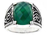 Green Agate Sterling Silver Ring