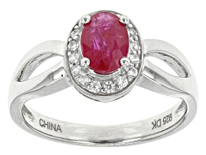 Mahaleo Ruby Sterling Silver Ring .79ctw