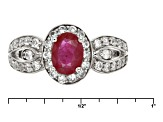 Mahaleo Ruby Sterling Silver Ring .96ctw