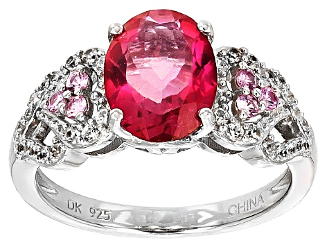 Pink Danburite Sterling Silver Ring 2.30ctw