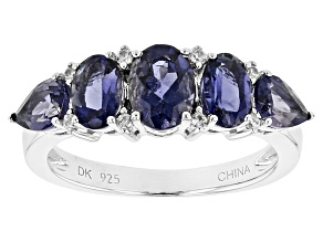 Purple Iolite Sterling Silver Band Ring 1.95ctw