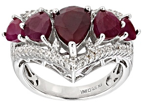 Red indian Ruby Sterling Silver Ring 5.11ctw