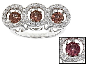 Color Shift Dancing Garnet Sterling Silver Ring 1.95ctw