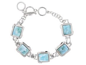 Blue Larimar Sterling Silver Braclet