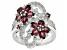 Purple Rhodolite Sterling Silver Ring 3.44ctw