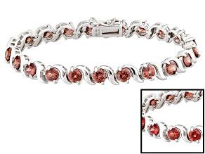 Pink Color Shift Garnet Rhodium Over Sterling Silver Bracelet 10.71ctw
