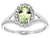 Green Amblygonite Sterling Silver Ring .61ctw