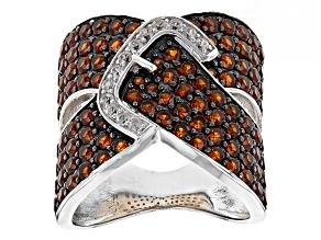 Red Garnet Sterling Silver Ring 4.47ctw