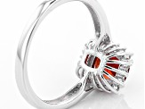 Red Labradorite Sterling Silver Ring 1.44ctw