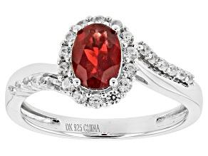 Red Labradorite Sterling Silver Ring 1.45ctw