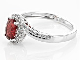 Red Labradorite Sterling Silver Ring 1.45ctw