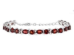 Red Garnet Sterling Silver Bracelet 16.81ctw