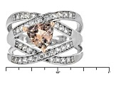 Pink Morganite Sterling Silver Ring 1.34ctw