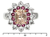 Pink Morganite Sterling Silver Ring 2.45ctw