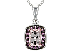 Pink Morganite Sterling Silver Pendant With Chain .77ctw