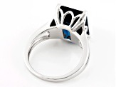 London Blue Topaz Sterling Silver Ring 6.37ct