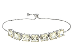 Yellow Labradorite Sterling Silver Sliding Adjustable Bracelet 16.06ctw
