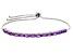 Purple Amethyst Sterling Silver Sliding Adjustable Bracelet 2.34ctw